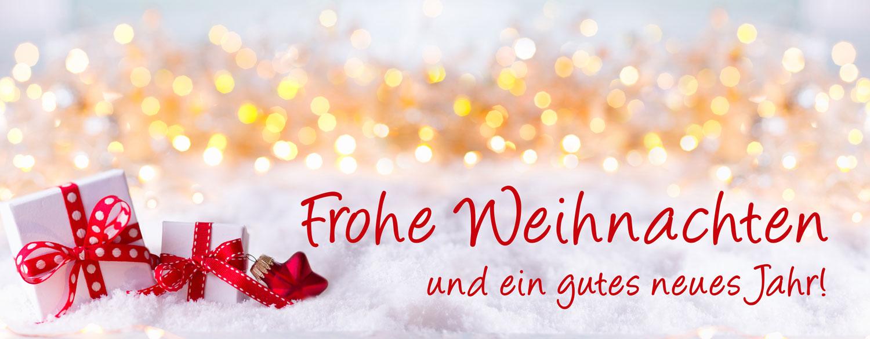 Frohe Weihnachten und ein gutes neues Jahr Grusskarte